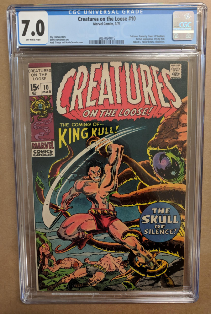 """1971 """"Creatures on the Loose"""" Issue #10 Marvel Comic Book (CGC 7.0) at PristineAuction.com"""