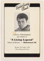Muhammad Ali Signed Program (PSA LOA) at PristineAuction.com
