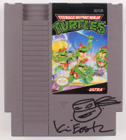 Kevin Eastman Signed Original 1989 Teenage Mutant Ninja Turtles Nintendo NES Video Game Cartridge with Hand-Drawn Turtles Sketch (PA COA) at PristineAuction.com