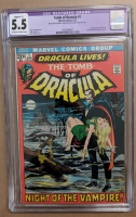 "1972 ""The Tomb of Dracula"" Issue #1 Marvel Comic Book (CGC Restored - 5.5) at PristineAuction.com"
