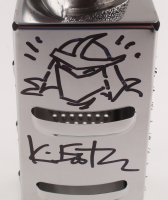 """Kevin Eastman Signed """"Teenage Mutant Ninja Turtles"""" - The Shredder - Officially Licensed Cheese Grater with Hand-Drawn Shredder Sketch (PA COA) at PristineAuction.com"""