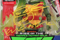 """Kevin Eastman Signed """"Teenage Mutant Ninja Turtles"""" - Raphael - Action Figure with Hand-Drawn Turtles Sketch (PA COA) at PristineAuction.com"""