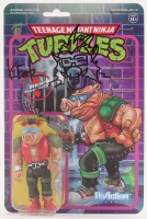 "Kevin Eastman Signed ""Teenage Mutant Ninja Turtles"" - Bebop - ReAction Action Figure with Hand-Drawn Bebop Sketch (PA COA) at PristineAuction.com"