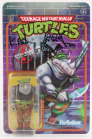 "Kevin Eastman Signed ""Teenage Mutant Ninja Turtles"" - Rocksteady - ReAction Action Figure with Hand-Drawn Rocksteady Sketch (PA COA) at PristineAuction.com"
