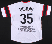 Frank Thomas Signed Career Highlight Stat Jersey (JSA COA) at PristineAuction.com