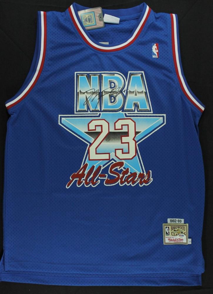 5b1a980c457 Michael Jordan Signed Mitchell & Ness Bulls 1993 All-Star Game Jersey (PSA  LOA