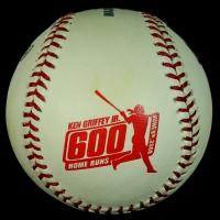 Ken Griffey Jr. Signed Limited Edition OML 600 Home Runs Logo Baseball #105/600 (MLB & UDA COA) at PristineAuction.com