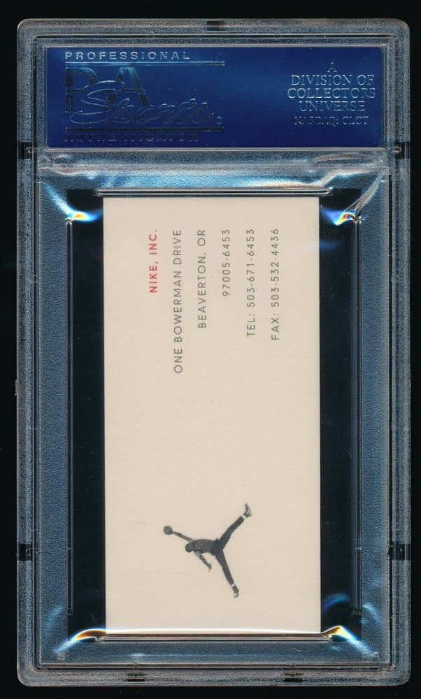 Online sports memorabilia auction pristine auction phil knight signed nike business card psa encapsulated at pristineauction colourmoves