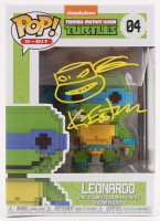 "Kevin Eastman Signed ""Teenage Mutant Ninja Turtles"" - Leonardo #04 8-Bit Funko Pop! Vinyl Figure with Hand-Drawn Turtles Sketch (PA COA) at PristineAuction.com"