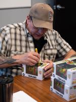 "Kevin Eastman Signed ""Teenage Mutant Ninja Turtles"" - Donatello #05 8-Bit Funko Pop! Vinyl Figure with Hand-Drawn Turtles Sketch (PA COA) at PristineAuction.com"