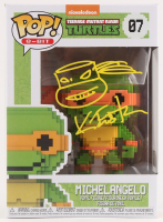 "Kevin Eastman Signed ""Teenage Mutant Ninja Turtles"" - Michelangelo #07 8-Bit Funko Pop! Vinyl Figure with Hand-Drawn Turtles Sketch (PA COA) at PristineAuction.com"
