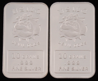 Lot of (2) 10 Grams .999 Silver USMC Devil Dogs Bullion Bars at PristineAuction.com
