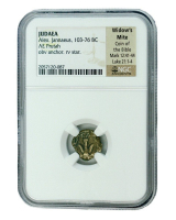 """Biblical """"Widow's Mite"""" 103-76 BC Judaean Prutah of the Maccabean Kings (NGC Encapsulated) at PristineAuction.com"""