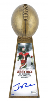 """Jerry Rice Signed 49ers LE 15"""" Lombardi Football Championship Trophy (Beckett COA) at PristineAuction.com"""