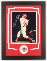Pete Rose Signed Reds 14x18 Custom Framed Photo Display (Fiterman Sports Hologram) at PristineAuction.com