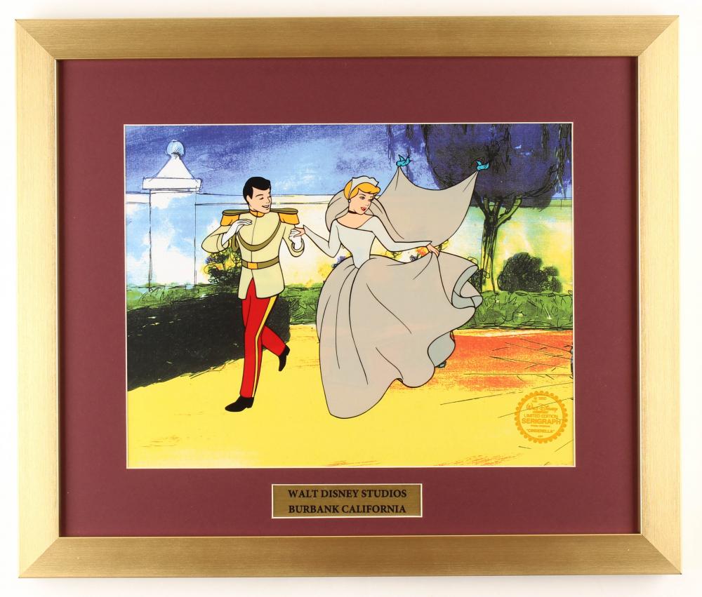 "Walt Disney's ""Cinderella"" 16x19 Custom Framed Animation Serigraph Display at PristineAuction.com"
