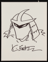 Kevin Eastman Teenage Mutant Ninja Turtles - The Shredder - Signed Original Hand-Drawn Sketch on 11x14 Canvas (PA COA) (Imperfect) at PristineAuction.com