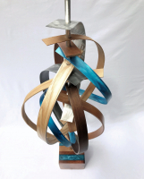 "Jeff Linenkugel ""Confetti"" 53x17x17 Mixed Media Sculpture at PristineAuction.com"
