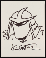 Kevin Eastman Teenage Mutant Ninja Turtles - The Shredder - Signed Original Hand-Drawn Sketch on 11x14 Canvas (PA COA) at PristineAuction.com