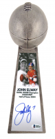 "John Elway Signed Broncos 15"" Lombardi Football Championship Trophy (Beckett COA) at PristineAuction.com"