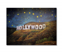 """Greg Matsey Signed """"Starry Night Over Hollywood"""" 30x40x1 LE Giclee at PristineAuction.com"""