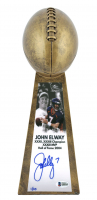 "John Elway Signed LE Broncos 15"" Lombardi Football Championship Trophy (Beckett COA) at PristineAuction.com"