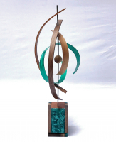 "Jeff Linenkugel ""Twister"" 12x12x29 Mixed Media Sculpture at PristineAuction.com"