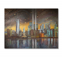 "Greg Matsey Signed ""Starry Night Over New York"" 30x40x1 LE Giclee at PristineAuction.com"