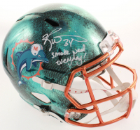 "Ricky Williams Signed Dolphins Full-Size Hydro Dipped Speed Helmet Inscribed ""Smoke Weed Everyday!"" (JSA COA) at PristineAuction.com"