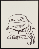 Kevin Eastman Teenage Mutant Ninja Turtles Signed Original Hand-Drawn Sketch on 11x14 Canvas (PA COA) at PristineAuction.com