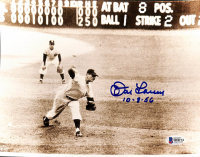 """Don Larsen Signed Yankees 8x10 Photo Inscribed """"10-8-56"""" (Beckett COA) at PristineAuction.com"""