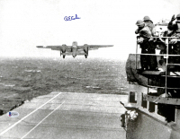 Richard E. Cole Signed Doolittle Raid Launch 11x14 Photo (Beckett COA) at PristineAuction.com