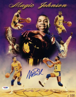 Magic Johnson Signed LE Lakers 11x14 Photo (PSA COA) at PristineAuction.com