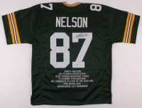 Jordy Nelson Signed Career Highlight Stat Jersey (Beckett COA) at PristineAuction.com