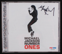 """Michael Jackson Signed """"Michael Jackson Number Ones"""" CD Cover (PSA COA) at PristineAuction.com"""