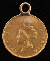 1854 $1 One Dollar Gold Coin (Atlered) at PristineAuction.com