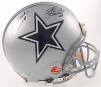 "Roger Staubach & Troy Aikman Signed Cowboys Authentic On-Field Full-Size Helmet Inscribed ""SB VI MVP"" & ""SB XXVII MVP"" (JSA Hologram & Aikman Hologram & Staubach Hologram) at PristineAuction.com"