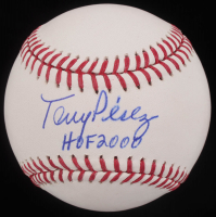 "Tony Perez Signed OML Baseball Inscribed ""HOF 2000"" (Real Deal COA) at PristineAuction.com"