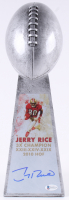 Jerry Rice - 49ers - Signed Large Lombardi Trophy (Beckett COA) at PristineAuction.com