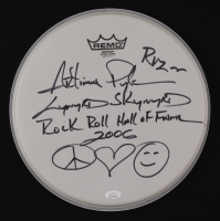 """Artimus Pyle Signed Drum Head Inscribed """"RVZ"""", """"Lynyrd Skynyrd"""" & """"Rock & Roll Hall of Fame 2006"""" (JSA COA) at PristineAuction.com"""