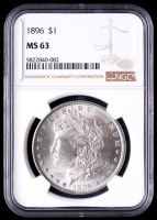 1896 Morgan Silver Dollar (NGC MS63) at PristineAuction.com