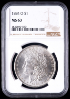 1884-O Morgan Silver Dollar (NGC MS63) at PristineAuction.com