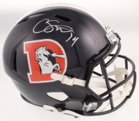 Courtland Sutton Signed Broncos Color Rush Full-Size Speed Helmet (JSA COA) at PristineAuction.com
