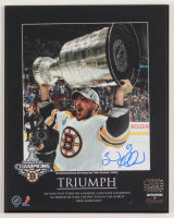 Brad Marchand Signed Bruins 2011 Stanley Cup Champions 8x10 Plaque (Marchand COA) at PristineAuction.com
