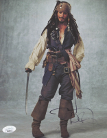 "Johnny Depp Signed ""Pirates of the Caribbean"" 8x10 Photo (JSA COA) at PristineAuction.com"