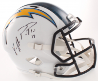 Keenan Allen & Philip Rivers Signed Chargers Full-Size Speed Helmet (Beckett COA) at PristineAuction.com