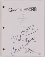 """Game of Thrones: PIlot"" Episode Script Signed by (4) with Charles Dance, Sean Bean, Jacob Anderson, & Aidan Gillen (JSA COA) at PristineAuction.com"