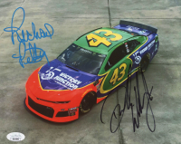 Richard Petty & Darrell Wallace Jr. Signed 8x10 Photo (JSA COA) at PristineAuction.com