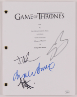 """""""Game of Thrones"""" Pilot Episode Script Signed by (4) with Charles Dance, Sean Bean, Jacob Anderson & Aidan Gillen (JSA COA) at PristineAuction.com"""