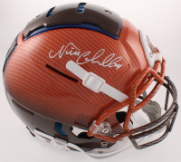 Nick Chubb Signed Browns Full-Size Authentic On-Field Hydro-Dipped F7 Helmet (JSA COA) at PristineAuction.com